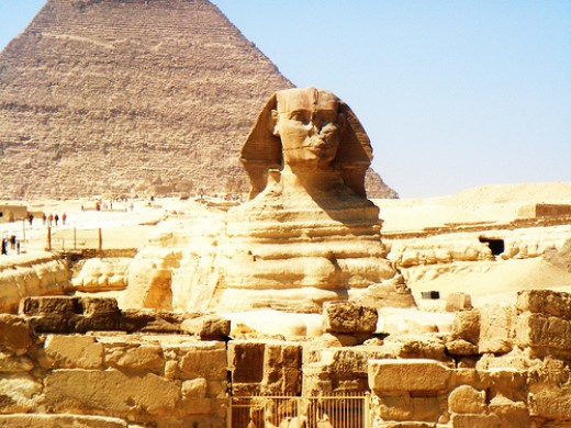 The sphinx in Egypt. A popular shore excursion from Port Said, a port-of-call on many cruises from Piraeus