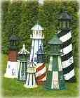 Model lighthouses make expensive and popular ornaments.