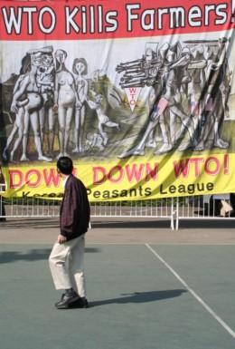 Anti-WTO  banner