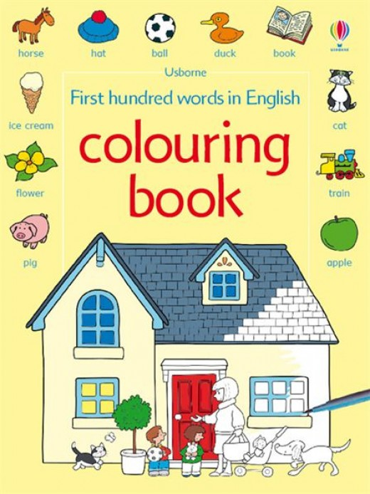 Buy coloring books online.    Image source - http://www.usborne.com