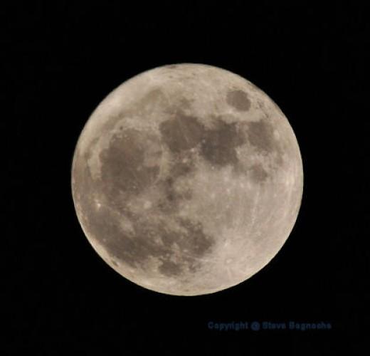 A full moon at midnight.