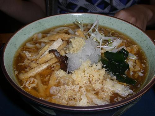 Hiyashi Ankake Udon with kombu