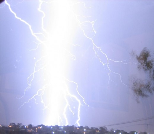 Lightening represents a catastrophic event after static charge accumulates and is suddenly released all at once