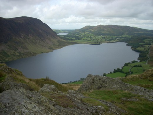 Crummock water from Rannerdale Knotts. Photograph courtesy of Rob Bendall