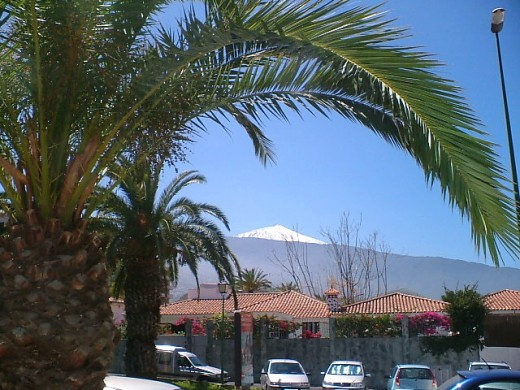 Mt Teide from Puerto de la Cruz
