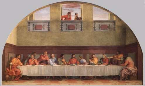 """The Last Supper"" by Franciabigio, 1514, Florence"