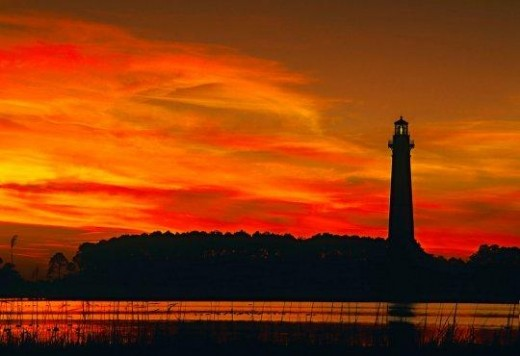 Sunset on Bodie Island