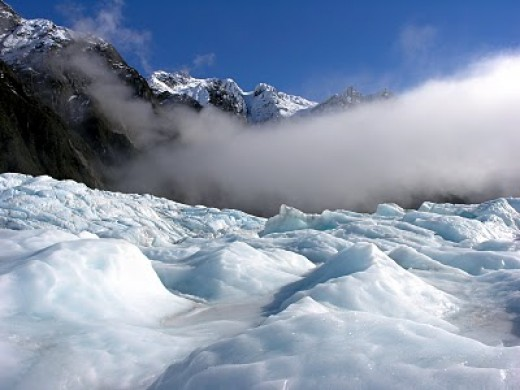 Clouds over Franz Josef Glacier