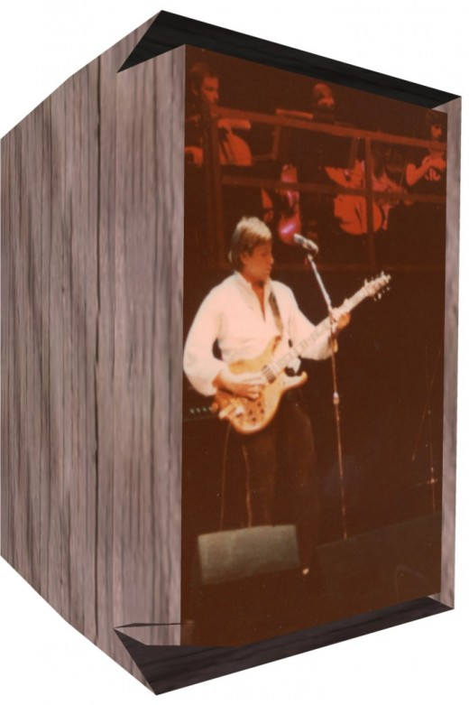Greg Lake playing the outhouse :-)