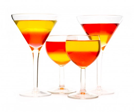 Dessert cocktail glasses from Dreamstime.com