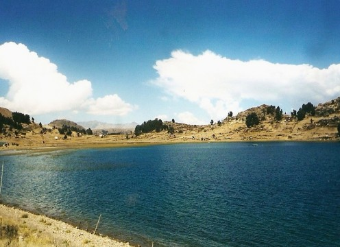 Lake Titicaca's dramatic scenery makes it a good place to hike.