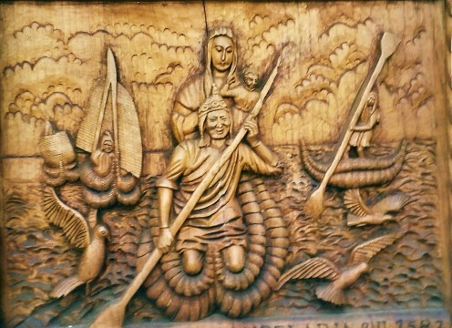 The Virgin of the Lake combines local native mythology with Catholic beliefs.