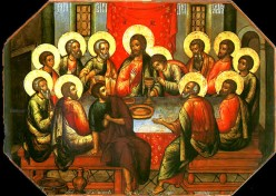 The Mystical Supper, Icon by Simon Ushakov (1685). From Wikipedia
