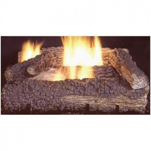Propane heater - gas logs.