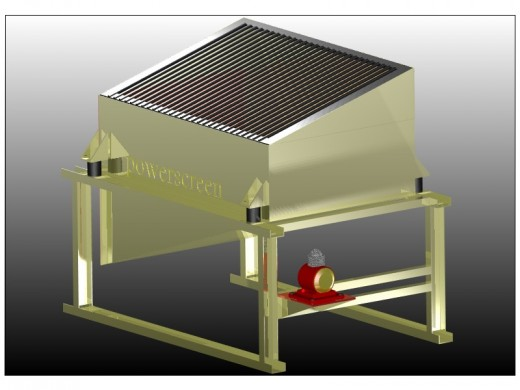 Top soil screen designed in turbocad professional v 15