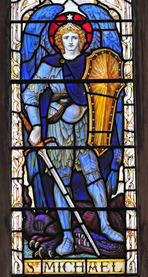 St Michael Stained Glass Window