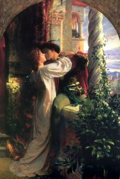 The 'Star Crossed Lovers' - Shakespeare's 'Romeo and Juliet' by Dicksee
