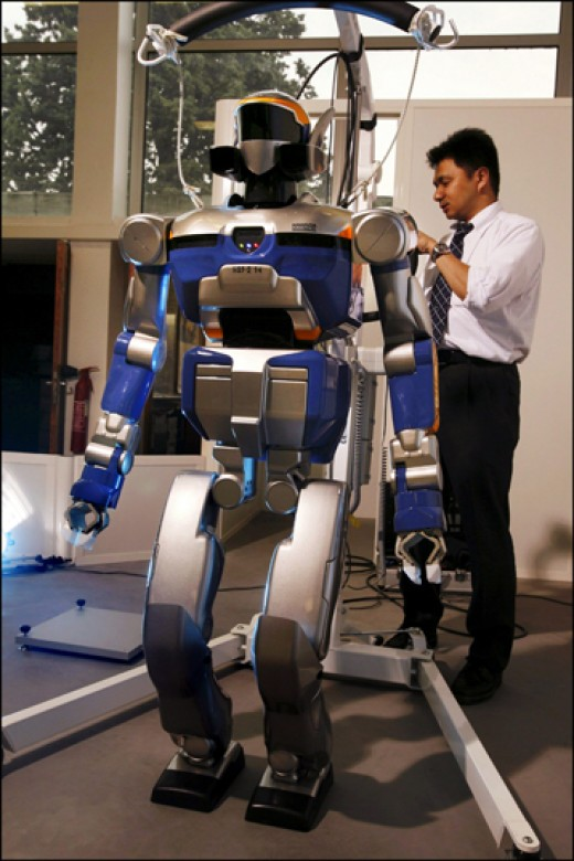 human shaped robots are typical of what people envisage as a robot, but they can come in any shape.