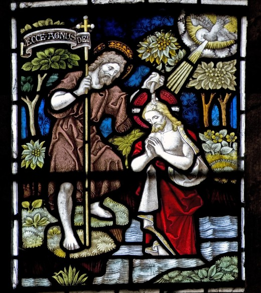 John The Baptist with Jesus