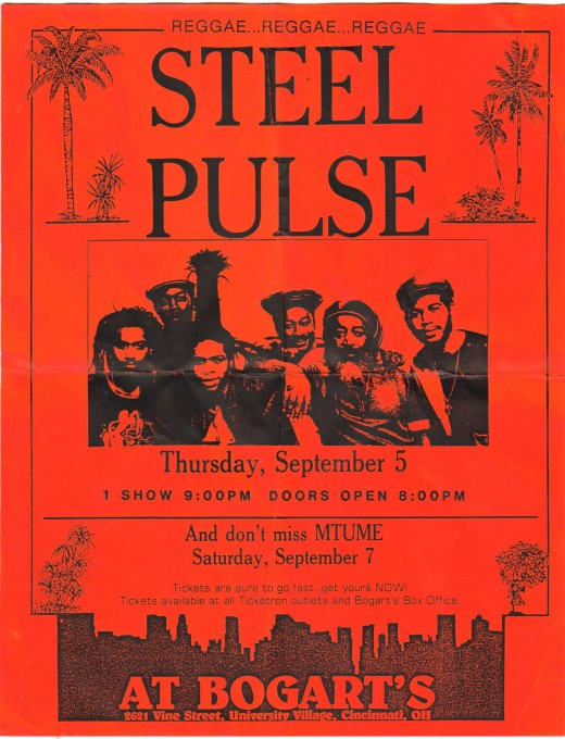 Rasta legends Steel Pulse. I saw them the 1st time at the Reggae Sunsplash In Montego Bay, Jamaica.
