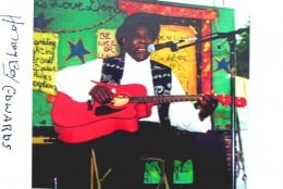 Honeyboy at the Chicago Blues Fest in 2000.