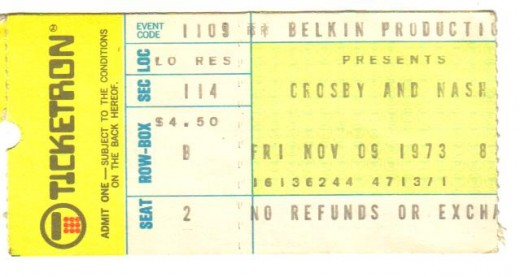 Crosby-Nash in '73. The 1st and only time they did Neil Young's tune Ohio. The place blew up!!!