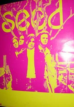 Promo poster for the band Seed.