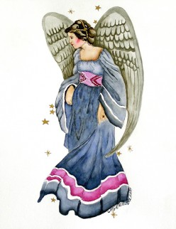 """My watercolor """"Angel of Hope"""""""