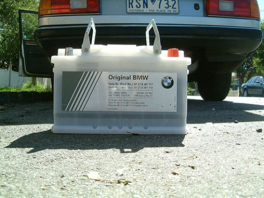 Original Battery for BMW (Photo from Flickr)