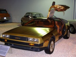 As part of an American Express promotion, 2 lucky people were rewarded with a gold-plated DeLorean like this one.