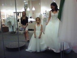 Warehouse bridal stores offer low prices, but limited service and mediocre quality.