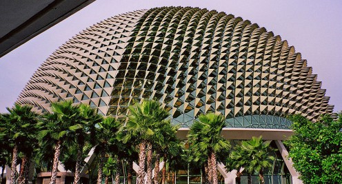 Singapore National Theater. {Images this page, public domain.]