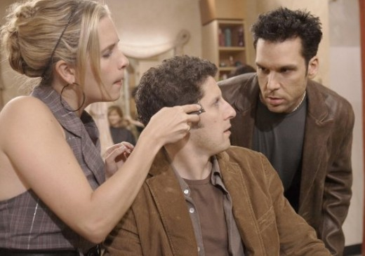 Dustin turns to Tank and the hairstylist accidentally shaves off his eyebrow.