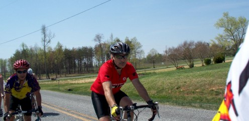 Alan is Matt's dad. Alan is a great ride leader and organizer. Alan leads the Wednesday ride from Union Grove.
