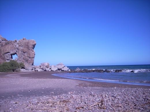 Dramatic landscapes are abundant in Baja.