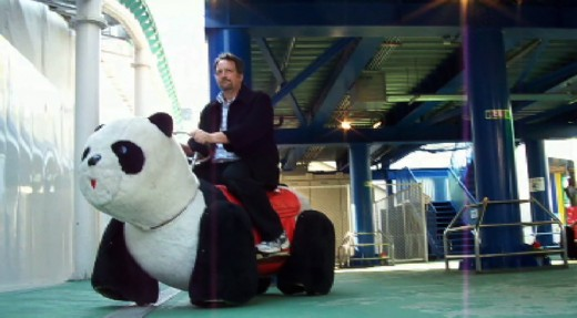 The author rides a tuneful mechanical panda. see the video for yourself at the end of this hub!