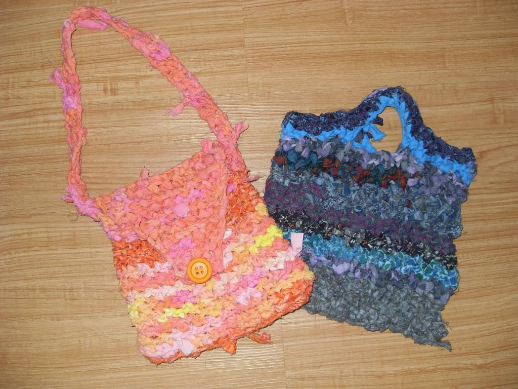 Final, fabric strip purses