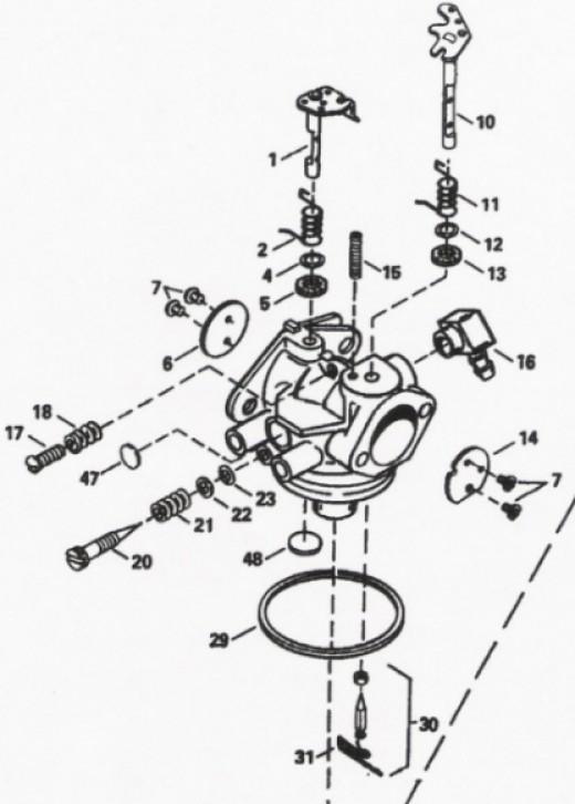 carburetor parts diagram tecumseh images
