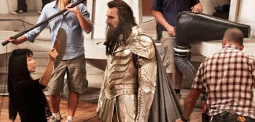 Liam Neeson (behind the beard) as Zeus