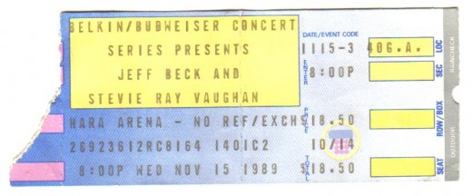 I'm not sure it gets much better than Jeff Beck and Stevie Ray on the same ticket!