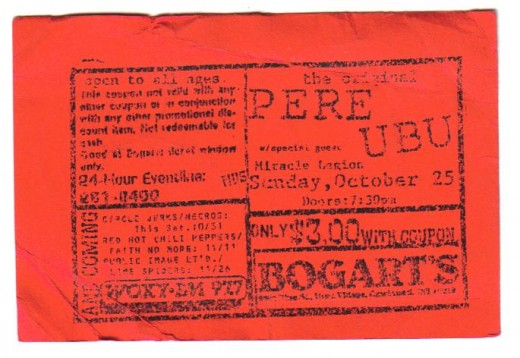 Old punks Pere Ubu from Cleveland, Ohio. The best band you never heard of!