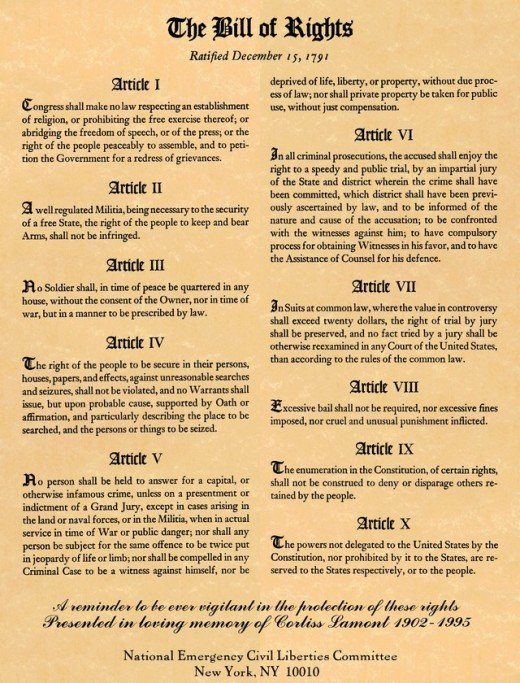 The Bill of Rights was revolutionary in concept and still is, as it has never been fully respected and is currently in dnager.