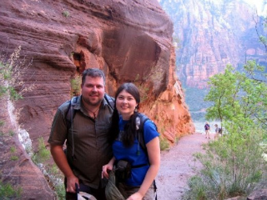 Jason Jack Miller and Heidi Ruby Miller at Zion National Park.
