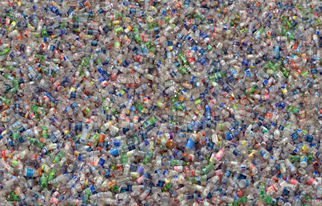 photo of millions of plastic bottles