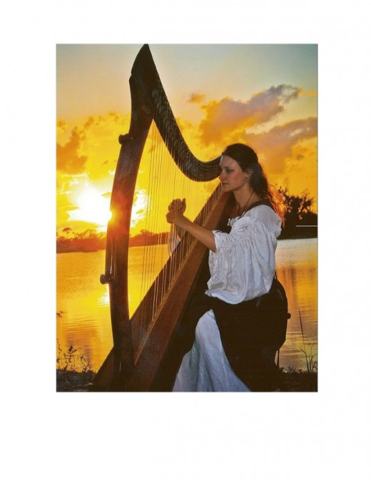 Harps can be heard at most renaissance fairs.