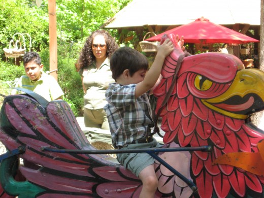 Jonathan on the jousting gryphon.