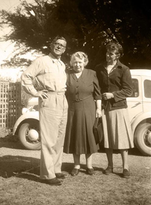 Grandma - with Grandpa and my Mom