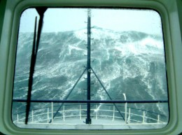 Rogue waves in the deep sea can be a source of problems for shipping.