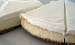 Cheesecake slices, the next day.