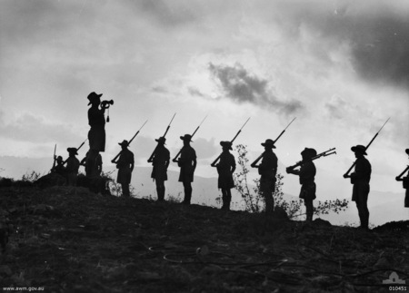 The Last Post at sun-down in 1941.